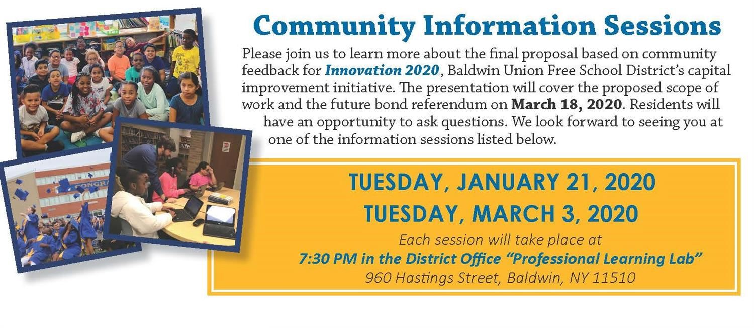 Community Information Sessions for Innovation 2020
