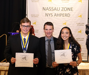 Trevor Watts and Alexa Stegmuller Receive Nassau Zone of the  New York State APHPERD Award