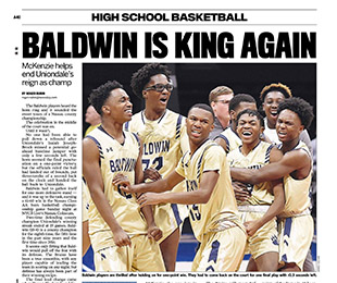 Newsday Features Basketball Teams Win in Nassau County Championship