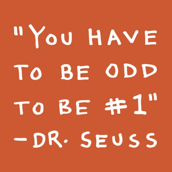 You have to be odd to be #1