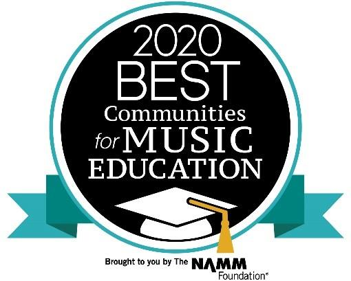 Winner of 2020 Best Communities for Music Education Award